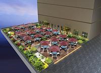 屋顶花园,露台,阳台3d模型