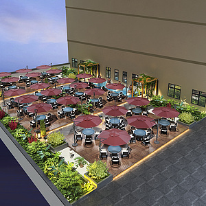 屋顶花园,露台,<font class='myIsRed'>阳台</font>整体模型