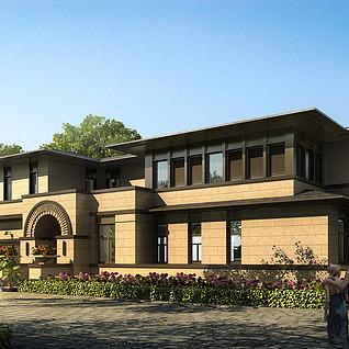 工装,建筑,室外,场景,全模3d模型