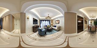 美式客餐厅全景模型3d模型