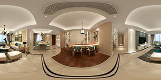 混搭客餐厅全景模型3d模型