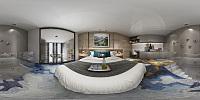 现代卧室全景模型3d模型