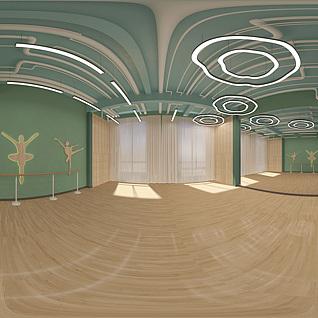 舞蹈室整体模型