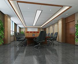 政府办公楼会议室整体模型
