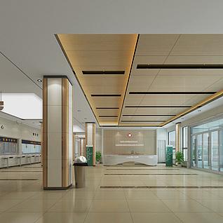 医院住院大厅整体模型