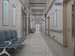 现代医院走廊3D模型