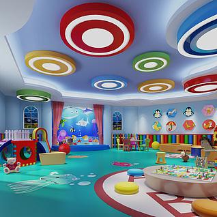 儿童活动室整体模型
