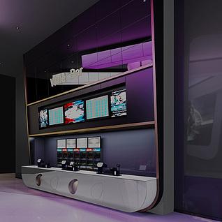 展厅服务台整体模型