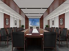 政府办公楼会议室3D模型