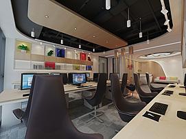 开放式办公室整体模型