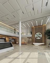 现代医院住院大厅3D模型
