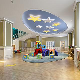 儿童活动室娱乐室玩耍处3d模型