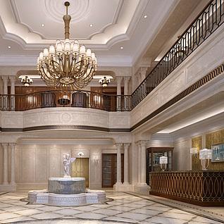 大厅前台整体模型