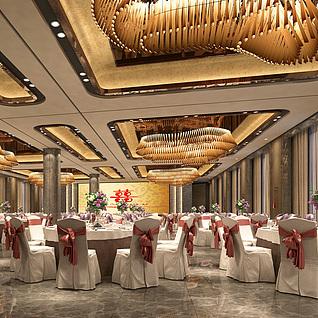 喜宴大厅整体模型