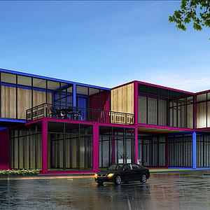 集装箱办公室楼设计3d模型