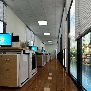 辦公室3d模型