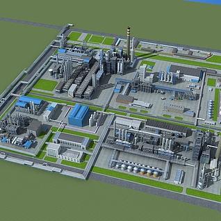 化工厂规划整体模型