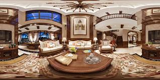 美式客厅全景模型3d模型