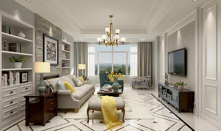 美式客厅家装3d模型