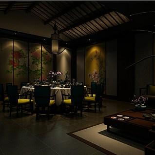 装饰性餐厅整体模型