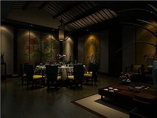 装饰性餐厅3d模型