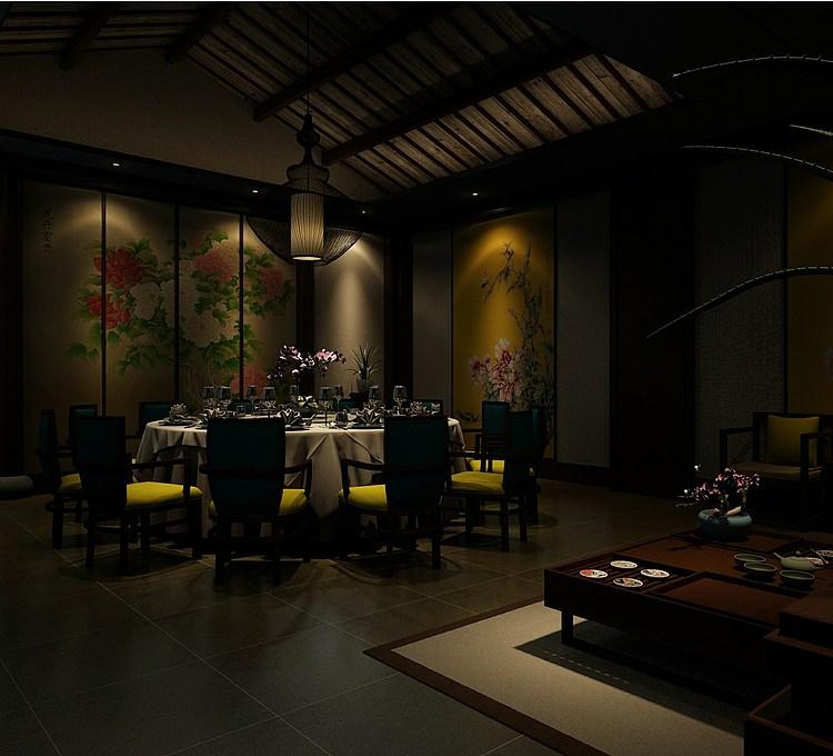 装饰性餐厅模型