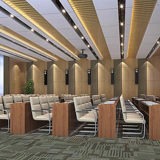 视频会议室整体模型