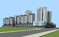 新中式建筑3d模型