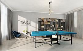现代乒乓球室整体模型