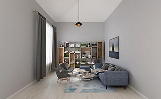 现代休闲室3d模型