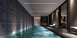 室内游泳池3d模型