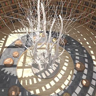 圆顶图书馆3d模型