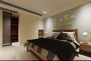 北欧温馨卧室3d模型