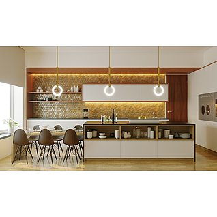 厨房餐厅家装模型