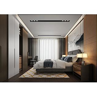 现代卧室家装模型