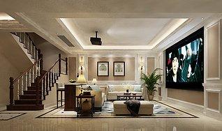 家庭影院3d模型