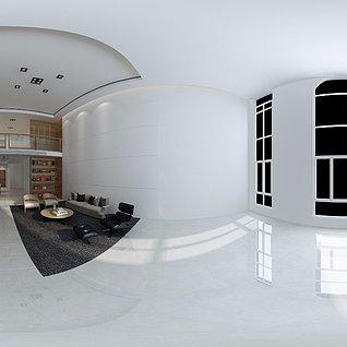 小户型loft简约现代家装整体模型