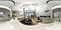 清新白loft家装设计3d模型