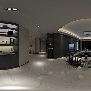 黑白色系现代家装模型模型3d模型