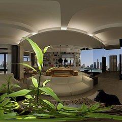 现代海景房家装模型整体模型