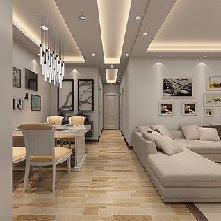 客厅玄关3d模型
