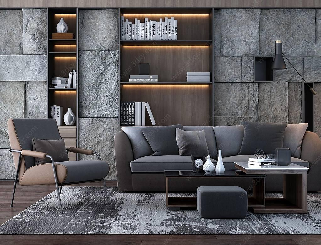 现代奢华客厅