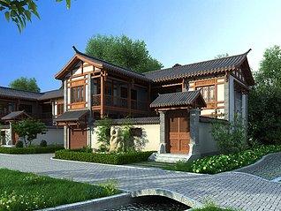 中式四合院古建3d模型