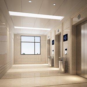電梯間3d模型