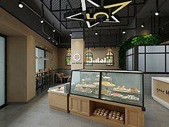 甜品店面包店蛋糕店3D模型