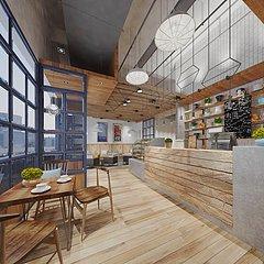 咖啡厅甜品店水吧3D模型