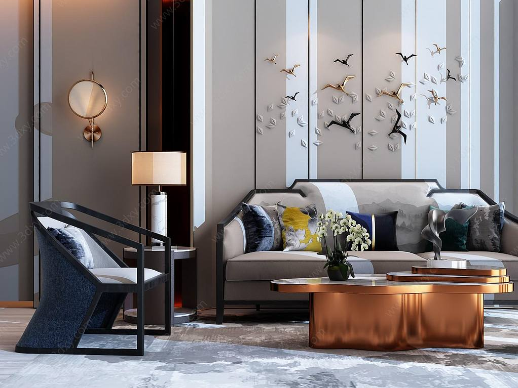 新中式奢华客厅