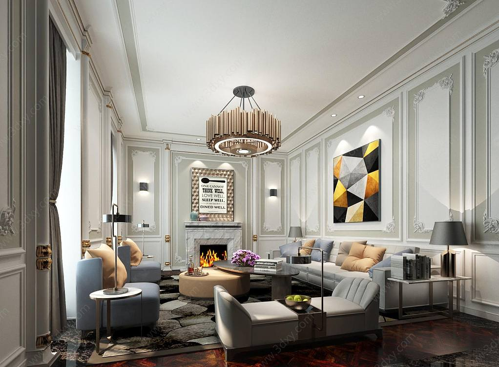 现代简约美式客厅