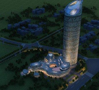 建筑夜景展示