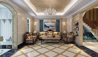 简欧客厅家装3d模型